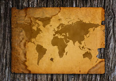 Old world map. Royalty Free Stock Photo
