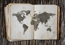 Old world map. Stock Images