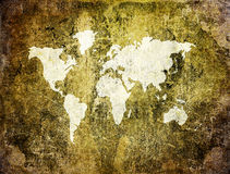 Old world map on retro paper Royalty Free Stock Photography