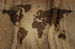 Old world map. Stock Photos