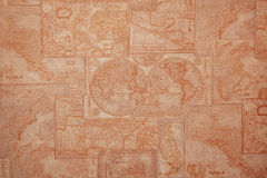 Old world map vintage pattern Stock Photography