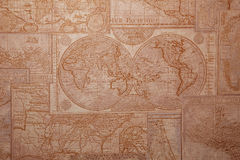 Old world map vintage pattern. Royalty Free Stock Photos