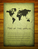 Old world map on wooden Royalty Free Stock Photos