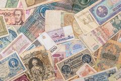 Old world paper money of different countries Royalty Free Stock Images