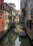 Old World Venice 2. This is the picture of serenity and relaxation: a tiny canal in the winding streets of Venice, Italy stock photos