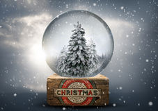 Old World Vintage Snow Globe Royalty Free Stock Photos