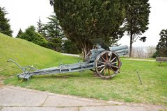 Old world war cannon Royalty Free Stock Photos