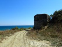 Old World War II fort in Obzor, Bulgaria royalty free stock image