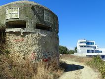 Old World War II fort in Obzor, Bulgaria stock photography