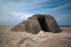 Old World War Two Bunker Royalty Free Stock Photography