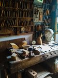 Old World Wood Workshop royalty free stock image