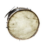 The old, worldly-wise, dusty bass drum Stock Images