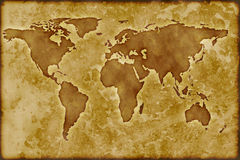 Old worldmap Royalty Free Stock Photo