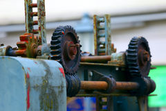 Old worm gear Stock Photo
