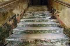 Old worn abandoned staircase Stock Image