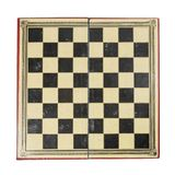 Old chess board. Old and worn antique chess board isolated on whote background Stock Image