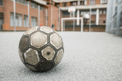 Old worn ball Royalty Free Stock Images