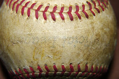 Old Worn Baseball Royalty Free Stock Images