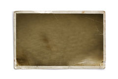 Old worn blank photo frame Royalty Free Stock Images