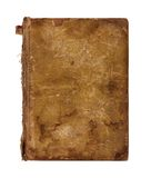Old worn book cover isolated Royalty Free Stock Photos