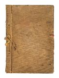 Old worn book cover with ribbon and bow Stock Photography