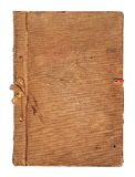 Old worn book cover with ribbon and bow Stock Images