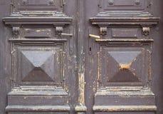 Old and worn brown door texture Stock Photo