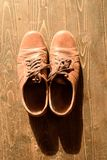 Old Worn Brown Leather Shoes Royalty Free Stock Images