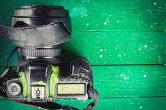 Old worn camera Stock Photography