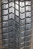Old worn car tires Stock Image
