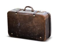 Old worn case isolated on white Royalty Free Stock Images