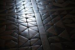 Old worn churchfloor. A detail of the nice old floor in the San Francesco Church - Assisi, Umbria - Italy Stock Photos