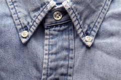 Old worn denim shirt Royalty Free Stock Image