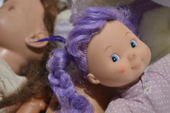 Old, worn and dirty dolls Royalty Free Stock Images