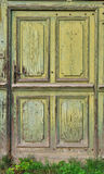 Old, worn door. House's worn door was being built once Royalty Free Stock Images