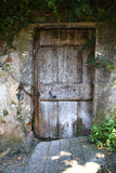 Old worn door stock image