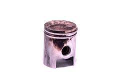 Old Worn Engine Piston. Isolated on White Background Stock Images