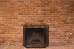 Old Worn Fireplace Stock Photography