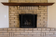 Old Worn Fireplace Royalty Free Stock Image