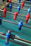 Old worn foosball table Royalty Free Stock Photo