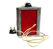 Old worn laboratory red lamp Stock Images