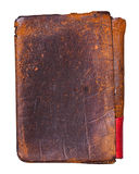 Old worn leather background. Isolated Stock Image