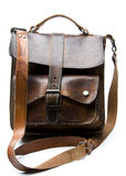 Old worn leather bag Royalty Free Stock Photo