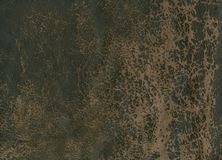 Old, worn leather on clothes Royalty Free Stock Image