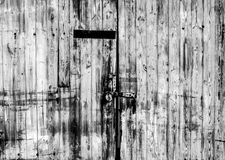 Old worn locked doorway Royalty Free Stock Images
