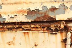 Old worn metal surface with paint. Rusty metal texture. Metal sheet with rust and worn paint, metal plate texture stock photos