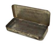 Old worn Metal tin Royalty Free Stock Images