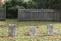 Old Worn Nameless Graves Stock Image