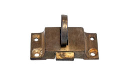 Old worn out brass latch Royalty Free Stock Photos