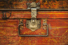 Old worn out case with rusted look to it Royalty Free Stock Images
